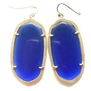 Kendra Scott Danielle earrings cobalt